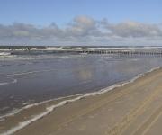 Strand palen bij de Kerf