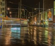 Den Haag Spui, passerende tram