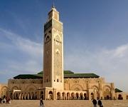 De grote Hassan II moskee in Casablanca