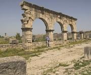 Ruines van oude Romeinse stad Volubilis