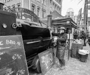 Op de markt in Den Haag