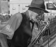 Straatmuzikant in Praag