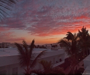 Zonsondergang gezien vanaf ons balkon 2-hoog