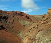 Prachtige woestheid in het park Timafaya met veel lava resten