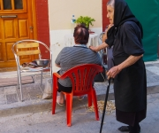 Straatbeeld in Chios