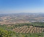 Vlakte van Jizreel, gezien vanaf de berg Karmel