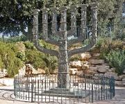 De menorah voor de Knesset