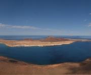 Noordwest kust, panorama foto montage vanaf Mirador del Rio